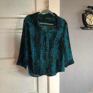 Woman's New York & Company Button Down blouse.